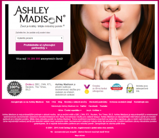 Ashley Madison homepage a zcela bezostyšné lhaní. Jak jinak.