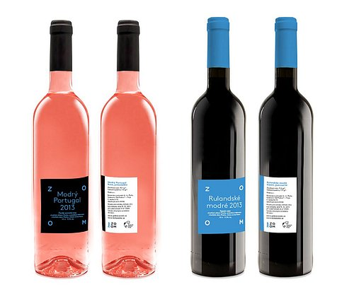 Speciální edice vín Modrý Portugal rosé a Rulandské modré klaret. Obrázek lze zvětšit