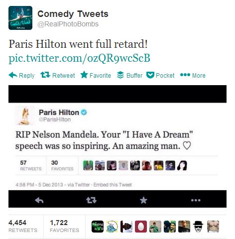 Tweet který nikdy nebyl (Paris Hilton)
