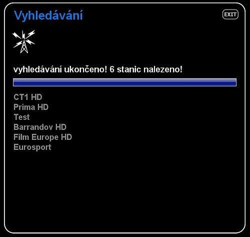 Aktuální programová náplň experimentu DVB-T2