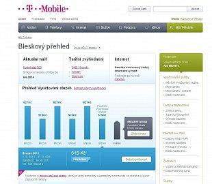 Nový web T-Mobile. Přehledy