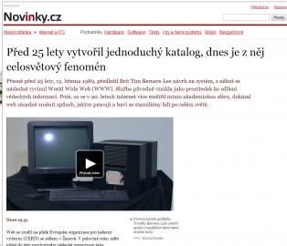 Tim Berners Lee vymyslel katalog. Klasické pojetí novinařiny na Novinky.cz