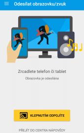 Přes Chromecast můžete odesílat i obrazovku. V mém případě to ale, se dvěma mobily, nebylo ideální ani jednom. Na rozdíl od odesílání obrazovky přímo přes operační systém Android, funkce v Chromecastu často zlobí.