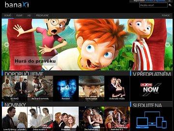Videopůjčovna Banaxi jako webová aplikace pod Windows 8.1.