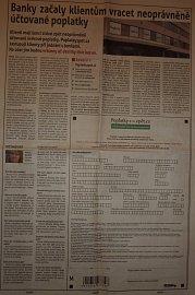 Stránková inzerce  BSP Lawyer Partners a.s. v MF Dnes 7. 2. 2013