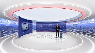 Návrh nového studia hlavní zpravodajské relace Události. Fotku lze zvětšit.