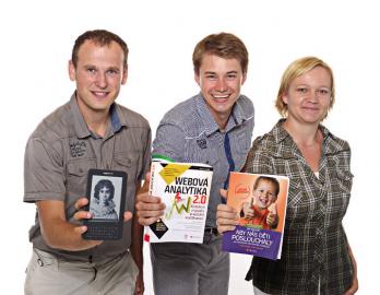 BookFan tým zleva: Josef Nevoral, Michal Juhás a Věrka Kyselová