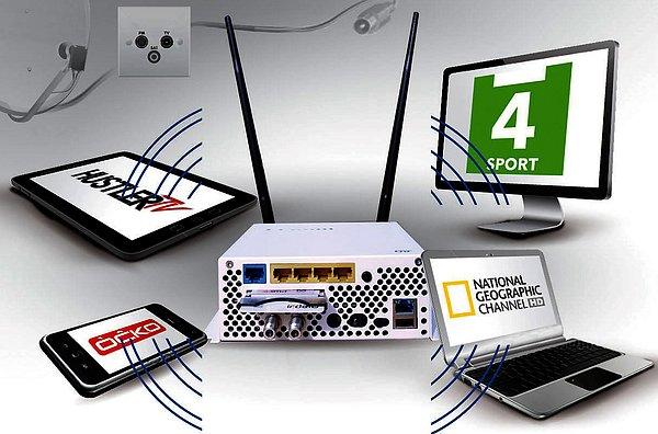 Z obrázku je patrné použití stanice. Loga kanálů jsou pouze ilustrační.