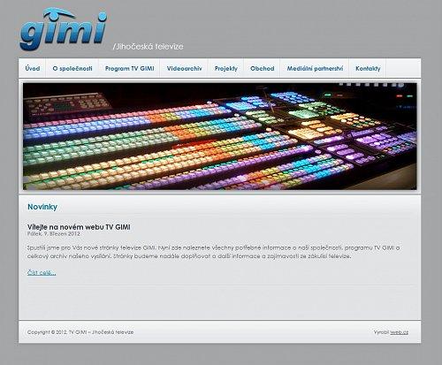 Českobudějovická TV Gimi má od března nové webové stránky.