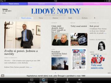 Aplikace Lidových novin pro iPad