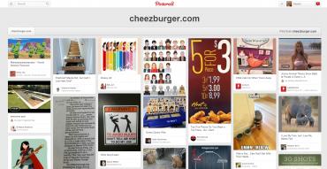 Pinterest umí najít i další obrázky, které pocházejí z určitého webu.