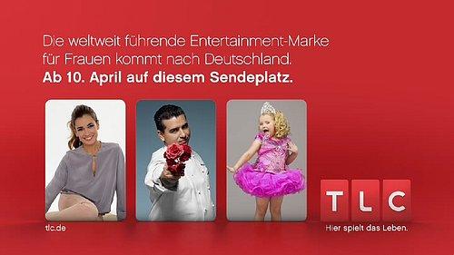 Testovacího obrazovka německé verze tematického kanálu TLC.