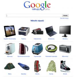 Google Nákup: titulní obrazovka, vánoce 2011