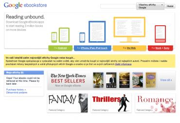 Google eBooks - titulní stránka 12/2010