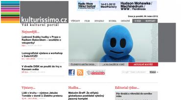 Kulturissimo.cz - titulní stránka
