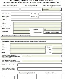 Žádost o vydání občanského průkazu