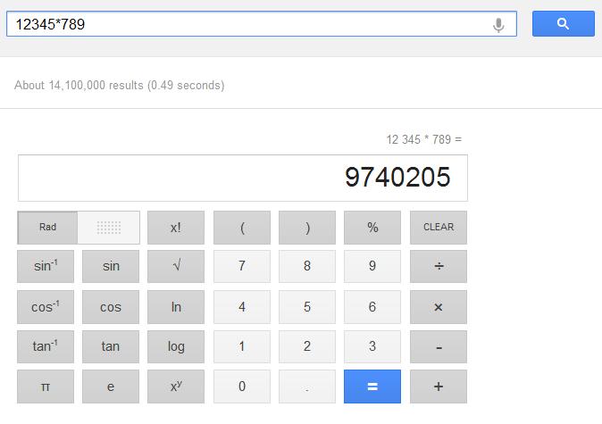 Kalkulačka google