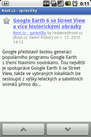 Screenshot Google Reader pro Android 2