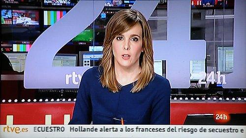 Ukázka z vysílání stanice Canal 24 Horas.