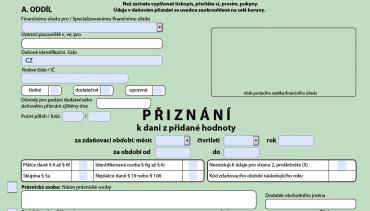 Chytrý formulář v PDF umožní online kontrolu zadaných dat a další elektronické zpracování.