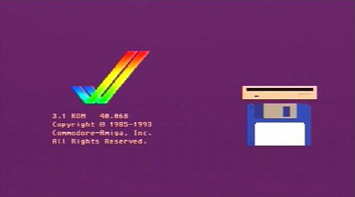 Úvodní obrazovka operačního systému Amiga