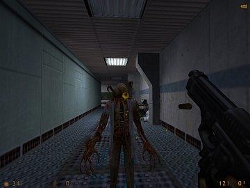Obrázky z linuxové verze hry Half-Life.