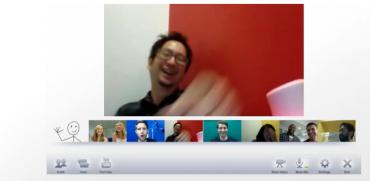 Setkání aneb videochat - největší obrázek patří nejhlasitějšímu.