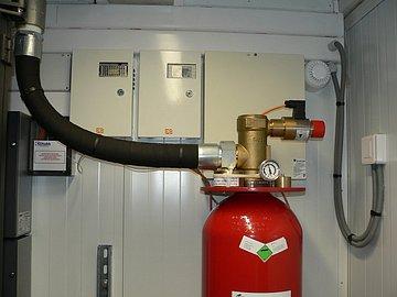 Ventil hasicího systému.
