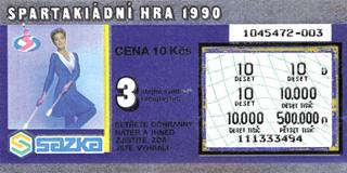 Los Spartakiádní hra z edice z roku 1989