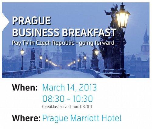 Část pozvánky na Prague Business Breakfast, která se 14. března uskuteční v pražském Marriott Hotelu.
