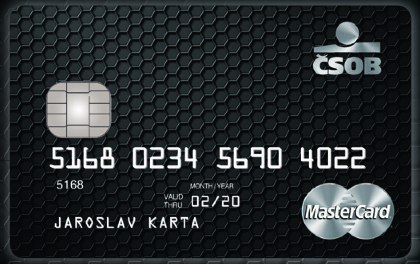 Platební karta MasterCard World Elite vydáváná ČSOB jako Karta dobré vůle.