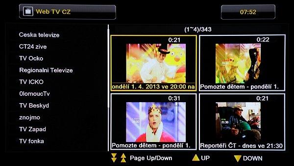 Weby televizních stanic