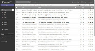 ProtonMail: výchozí zobrazení schránky