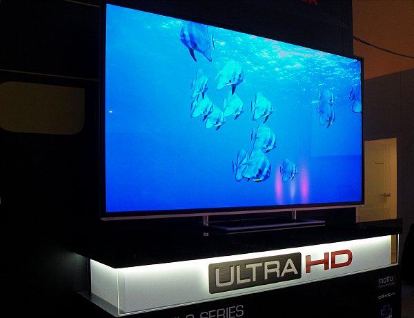 Televizor s promo smyčkou ve formátu Ultra HD