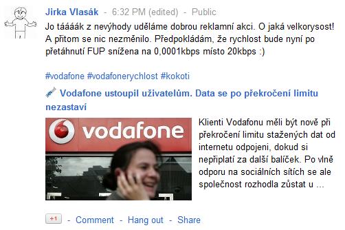 Vodafone nakonec ostoupil, ale moc to nepomůže, škoda dokonána