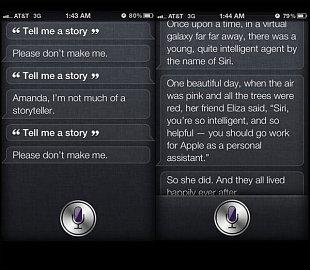 Siri umí i vyprávět pohádku, jen se nesmíte nechat odmítnout ...