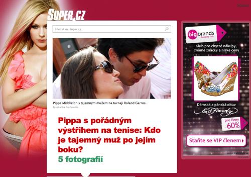 Titulní stránka nového Super.cz - orientace na fotky je jasná, nadpisy výrazné a textu málo.