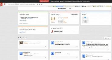 Takto vypadá například profil pražského kadeřnictví Toni & Guy na Google+, na který se dostanete proklikem z Google map.