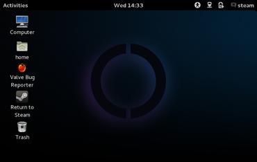 GNOME 3 téměř ve výchozím nastavení.