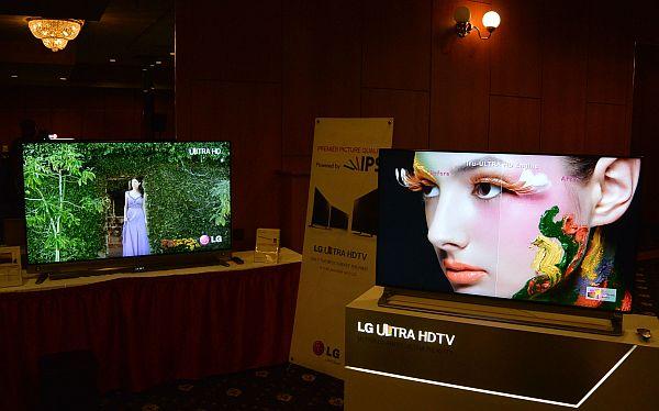 Jak vidíte ze snímku, i Ultra HD televizory s klasickou technologií LCD dostávají IPS panely. LG na ně letos hodně sází a bylo vidět, že na ně klade větší důraz než na OLED. Firma se už zjevně smířila s tím, že hned tak rychle nebudou a zdálo se mi, že poněkud přibrzdila.