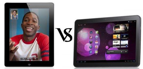 Samsung Galaxy Tab 10.1 versus Ipad