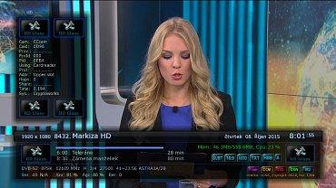 U Markízy HD na satelitu se v uplynulých dnech objevil příznak technologie HbbTV. Obrázek lze zvětšit