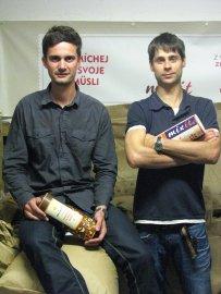 Zakladatelé Mixit.cz Martin Wallner (vlevo) a Tomáš Huber jsou spolužáci z pražské pobočky španělské manažerské školy ESMA.