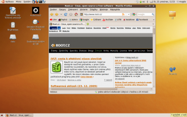 Obrazovka Ubuntu Magda