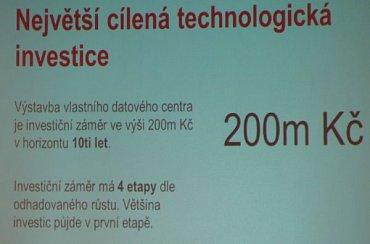 Nové datacentrum je největší technologickou investicí v historii firmy.