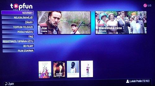 Služba Videopujčovna Topfun už obsahuje pouhý zlomek původně nabízených titulů