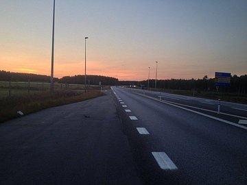 Půlnoc na severu Švédska