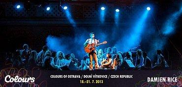Takto zvou Colours of Ostrava na Damiena Rice.