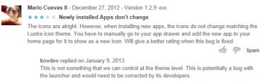 Vývojář Dave Kover ('Kovdev') vysvětluje uživateli, že za něco nemůže.