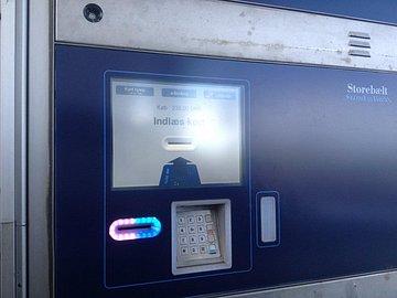 Platební automat na Öresundském mostě